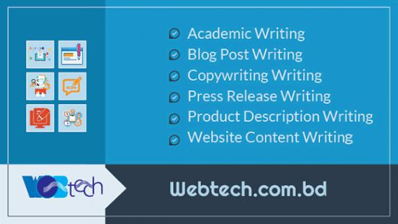 WebTech content writing writing in Bangladesh